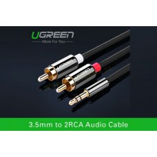 3,5 mm to  2 x RCA AUX Car stereo Cable