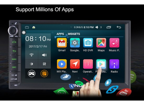 NYHET! 2 Din universal Android 6,1 bilstereo GPS, BT