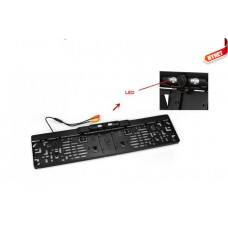 E.U plate car rear view camera with 4 LED to dark visibility
