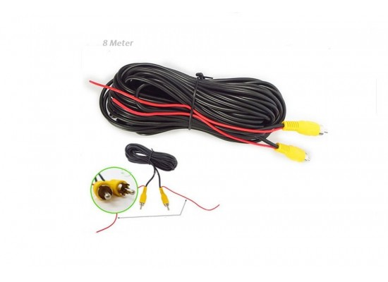 8 meters RCA video cable with the power cable to the rear view camera