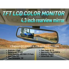 Car rearview mirror with rearview camera function